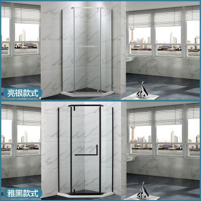曼淋浴房钻石形整体浴室干湿分离隔断钢化玻璃门不锈钢洗浴房 标高2米,含石基2.05米 不含蒸汽