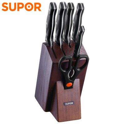 蘇泊爾(SUPOR)全套廚房刀具TK1609E 鋒刃系列Ⅱ 7件套 不銹鋼廚房家用刀具多用組合套裝