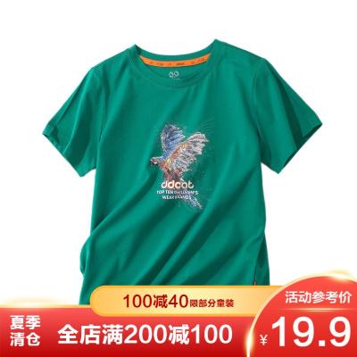 【季末清倉】叮當貓童裝 男童短袖圓領T恤舒適時尚潮流帥氣男孩百搭上衣