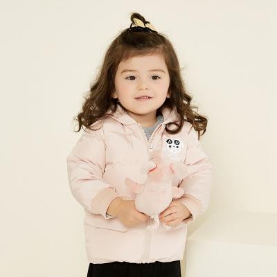 【1件3折价:138】moomoo童装女儿童羽绒服女宝宝冬装外套短款鸭绒保暖女幼童羽绒