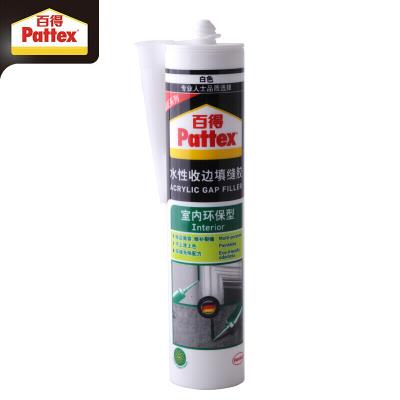 汉高百得(Pattex)PGF-I 收边胶 中性硅胶 玻璃胶封边胶 环保配方水性无味 可上漆 室内型 白色-300ml
