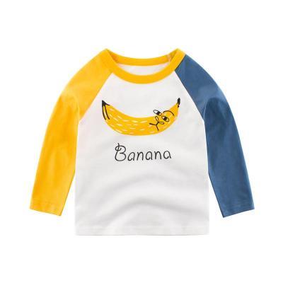 27Kids 兒童長袖T恤秋款童裝圓領長袖T恤男女童打底衫時尚休閑韓版卡通孩子的衣服
