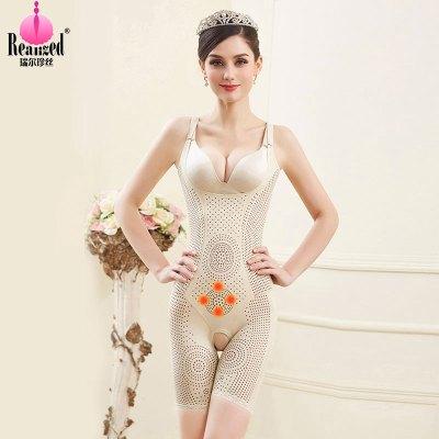 瑞尔珍丝(RUIERZHENSI)吊带负离子塑身衣连体带能量石收腹束腰美体塑身衣连体束身内衣女瘦身提臀塑型