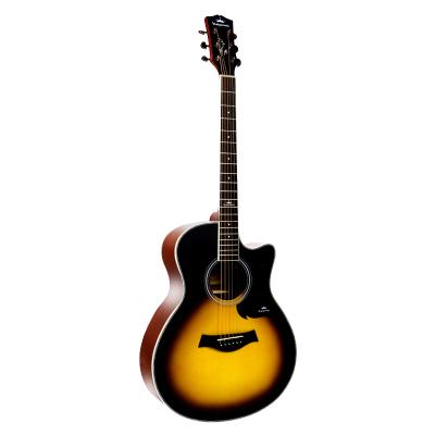 卡馬自營(KEPMA)A1C3TSM民謠吉他初學者木吉他入門吉它jita日落色40英寸