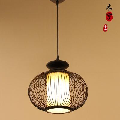 蒹葭創意餐廳陽臺小吊燈簡約過道玄關燈具現代日式韓式床頭單頭餐吊燈 黑色純色羊皮紙直徑25cm