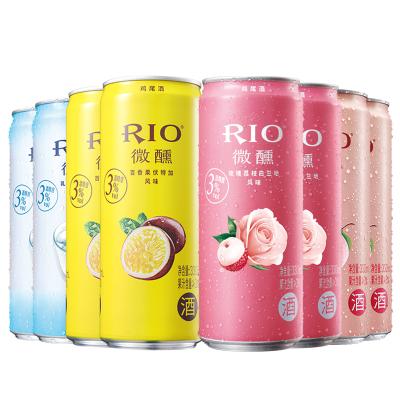 銳澳(RIO)洋酒 雞尾酒 預調酒 乳酸菌+白桃+百香果+玫瑰荔枝味330ml*8罐