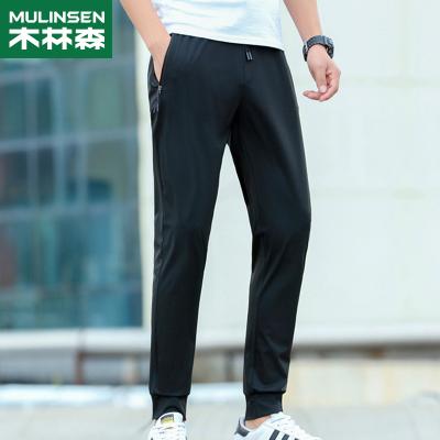 木林森(MULINSEN)情侶款冰絲長褲 輕薄透氣冰爽舒適速干褲 FQ9000AB速干T恤