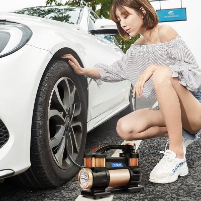 尤利特(UNIT)車載充氣泵汽車打氣泵便攜式車用小轎車雙缸大功率多功能高壓輪胎點煙器電源直流12V YD-3312E數顯