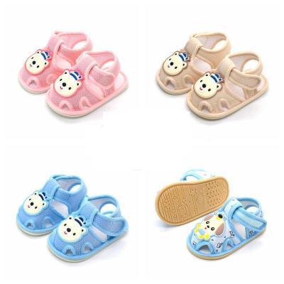 【軟底】0-1歲嬰兒涼鞋男女寶寶學步鞋6-12個月布鞋新生兒鞋夏季 諾妮夢