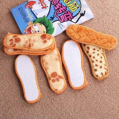 5/10拼儿童纯棉布鞋垫防臭吸汗透气秋冬男童女童可爱加厚保暖鞋垫