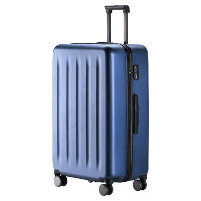 90分旅行箱 靜音萬向輪行李箱大容量密碼箱 純PC拉桿箱男女旅行箱 極光藍 24寸