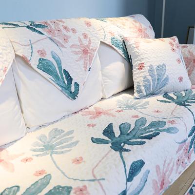 沙發套子全包沙發罩四季通用全棉沙發墊布藝客廳現代簡約防滑真皮坐墊子全包罩巾蓋套 綠野仙境 110*180cm