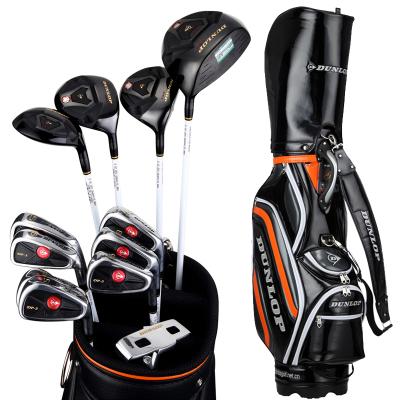 登路普(DUNLOP) 高尔夫球杆 套杆 男士全套杆 女士 钛合金碳素杆 大气黑色 DP-3系列