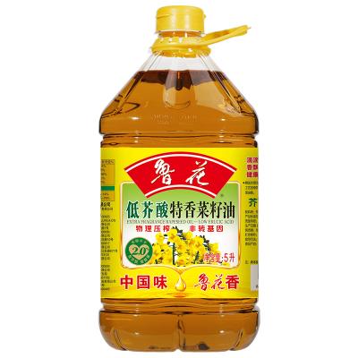 魯花 食用油 非轉基因 物理壓榨 低芥酸菜籽油 5L