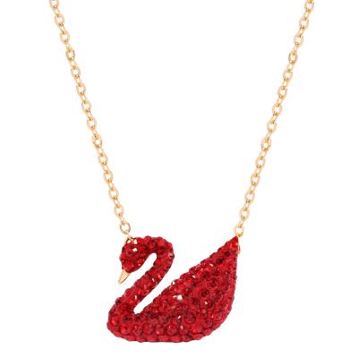 SWAROVSKI施华洛世奇 新年吉祥红天鹅水晶项链 人造水晶 送恋人5465400