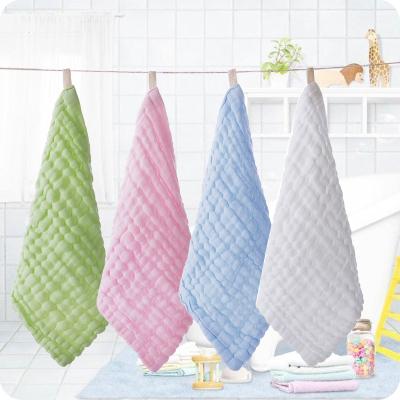 兒童小毛巾 柔軟洗臉巾口水巾手帕幼兒園不毛吸水小方巾
