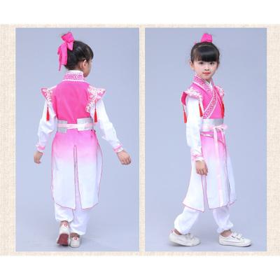 因樂思(YINLESI)六一兒童古裝漢服女童演出服中國風男童幼兒園小孩書童國學表演服
