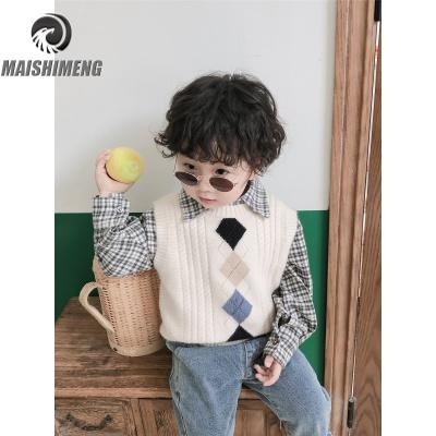 【品牌特卖】童装男童秋装毛衣马甲宝宝针织背心儿童套头衫小童坎肩洋气