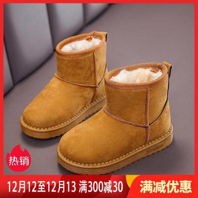 冬季 新款中大童雪地靴寶寶加厚棉靴男童短靴防滑軟底加厚兒童棉鞋莎丞