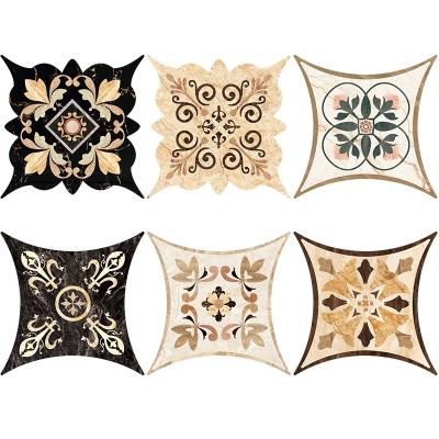 客厅卧室地板贴纸耐磨自粘卫生间地砖地贴地面装饰瓷砖对角贴 N款 中