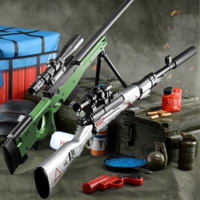 AWM儿童玩具枪98K狙击抢绝地吃鸡全套装备求生和平男孩精英黄金龙骨水弹手枪智扣AWM(80CM)