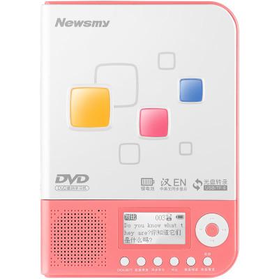 【贈布袋+清潔光盤】紐曼便攜式數碼學習機DVD-L350粉色復讀機CD/DVD碟片光盤隨身聽U盤TF卡mp3播放器