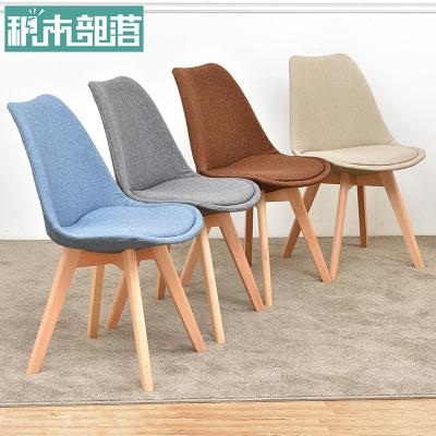 实木书桌ins椅子靠背现代家用餐椅北欧办公伊姆斯椅简约化妆凳子