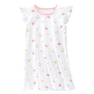 KIDS MAM&DAD夏季女童棉睡裙薄款 兒童睡衣短袖女孩公主睡衣大童母女親子裝