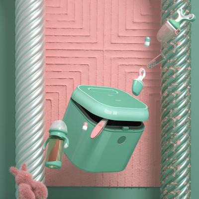 babycare紫外线奶瓶消毒柜 消毒器带烘干 多功能婴儿奶瓶不锈钢消毒锅柜 经典款-薄荷绿 8800D