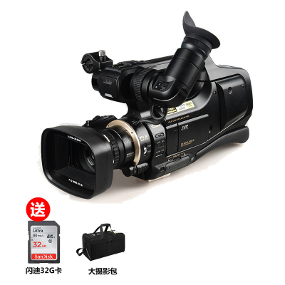 杰偉世(JVC) JY-HM95AC 高清 閃存 肩扛式 數碼攝像機 專業攝像機 黑色790萬有效像素3英寸顯示屏