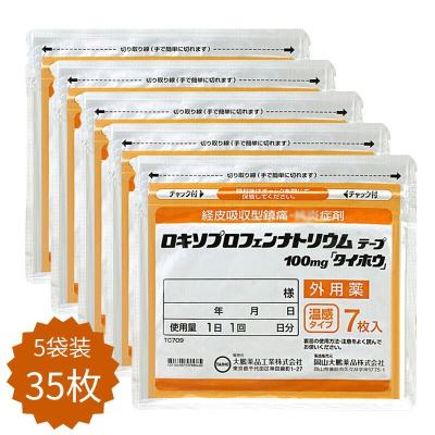 日本藥膏貼撒隆巴斯久光,Hisamitsu紅花緩解風濕關節疼痛肩頸痛腰痛膏藥貼大鵬溫感 5袋35枚100mg