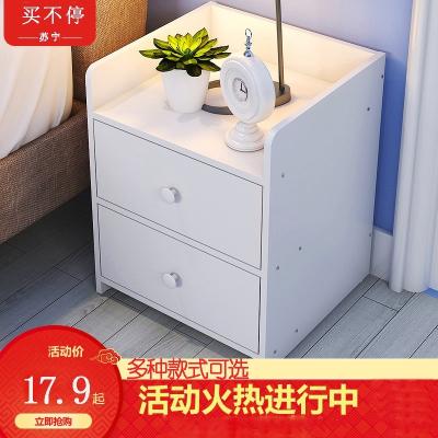 簡易床頭柜簡約現代床邊小柜子古達儲物柜可愛臥室小型迷你收納置物架