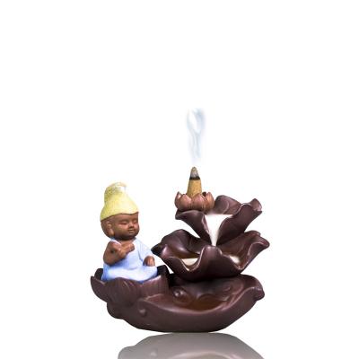 【中華特色館】西藏館 拉薩直發 藏素香牌 楚布文化藏香 小和尚蓮花倒流香器具