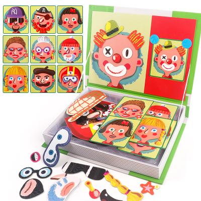 智恩堡/zhienb 兒童益智力磁性拼圖書男孩女孩寶寶3歲以上早教磁力玩具 可愛小丑6701-1