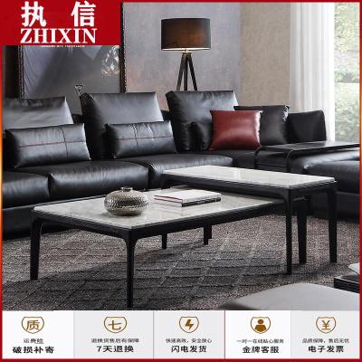 蘇寧放心購意式現代客廳茶桌臺套幾組合 極簡大理石茶簡約新款