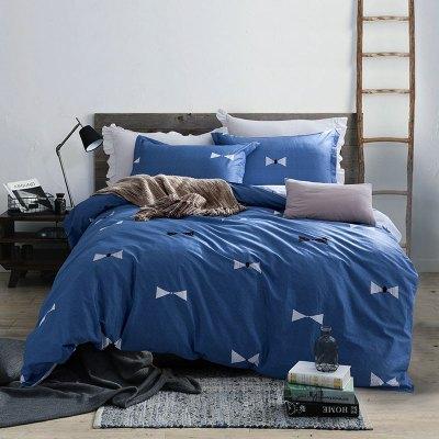 迎馨家纺 全棉三件套高支高密学生宿舍纯棉床单被罩床上套件