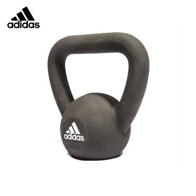 Adidas阿迪达斯专业经典壶铃8kg 男士提壶哑铃女 家用增肌健身训练 黑色宽手柄