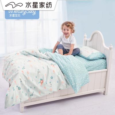 水星宝贝BABY萌趣全棉斜纹四件套婴儿套件儿童床上用品
