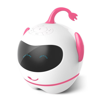 小琪Q7-P儿童陪伴智能机器人玩具语音对话读书互动多功能早教故事机 粉色