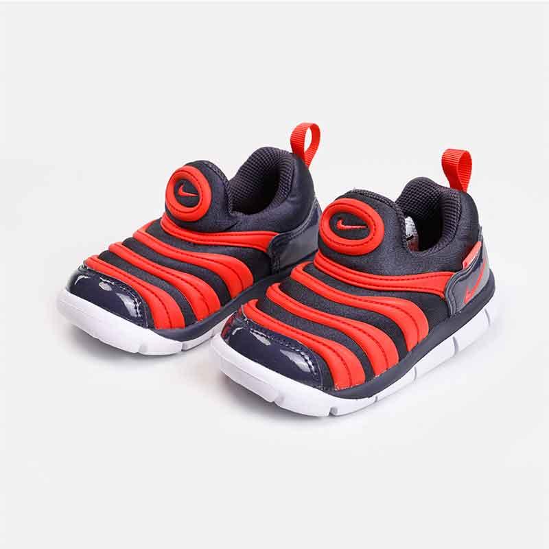 NIKE耐克男女童婴童鞋 2018冬季新款DYNAMO FREE毛毛虫运动轻质舒适跑步鞋343938