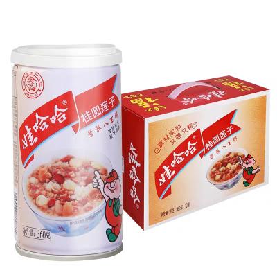 【苏宁超市】娃哈哈 桂圆莲子八宝粥360g*12罐/箱