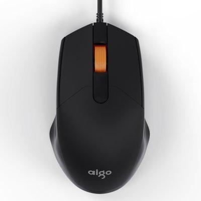 爱国者 有线静音无声USB电脑办公家用鼠标 M100黑色