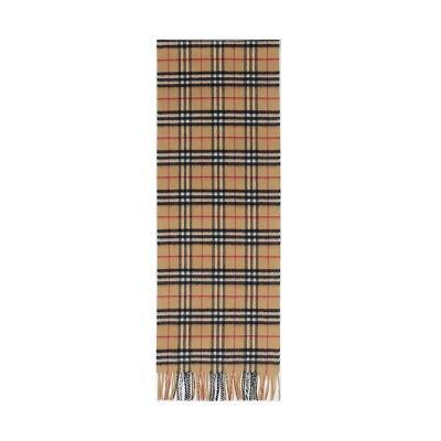 BURBERRY 博柏利 男女通用款山羊绒格纹围巾 80155561
