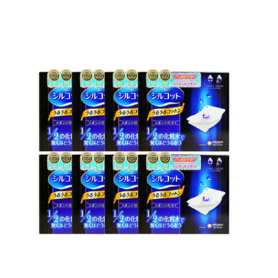 8件装 Unicharm尤妮佳化妆棉卸妆棉40枚 超吸收省水 日本原装进口