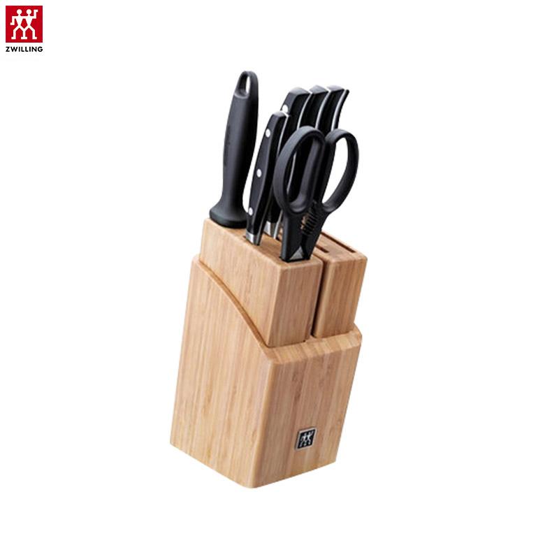 双立人(zwilling) Twin Pro随心如意竹制插刀架刀具 7件套装厨房家用32171-001