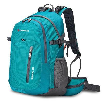 SWISSGEAR背包户外男女通款28升双肩包大容量旅行包徒步运动登山包送防雨罩 经典款 JP-3128II