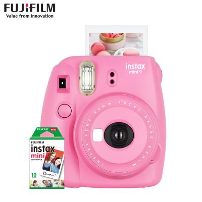 富士(FUJIFILM)INSTAX 拍立得 胶片相机 一次成像 mini9 火烈鸟粉色套装 含10张相纸