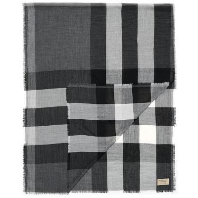 BURBERRY 博柏利 男女通用款格纹羊绒围巾 39997101