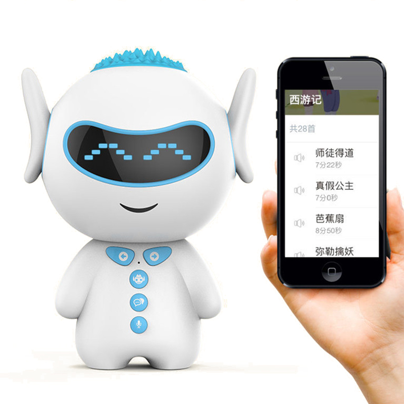 GIAUSA智能机器人小U人机对话WIFI儿童人工智能教育学习儿童PVC男女孩早教机器人蓝色
