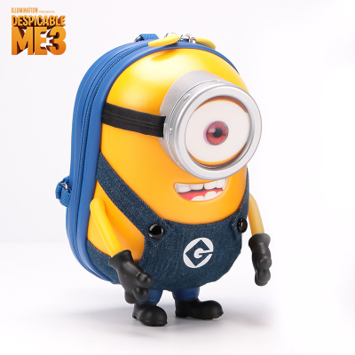 神偷奶爸(Despicable Me-Minion)小黄人小背包迷你款大人儿童 亲子包挎包胸包三合一3D立体小书包单眼
